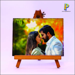 CANVAS TILE PRINT WITH EASEL STAND