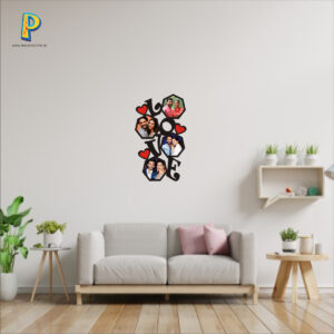 Acrylic Love Collage Wall Hanging 12×18 inches