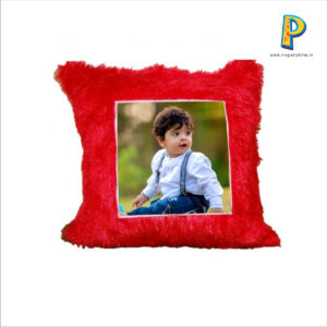SQUARE CUSHION WITH PERSONALIZED PHOTO AT ONE SIDE
