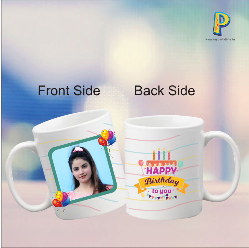 Start and end every coffee break with a smile. Our special collection of Photo Mugs for HAPPY BIRTHDAY is a great way to let your bro/BF/Huby/Friend know how much you love them. Number of Products 1 Washing Instructions Washable Freezer Safe Yes Microwave Safe Yes Color White Material Ceramic Volume 350 ml Diameter 80mm Weight 350gm Height 95mm